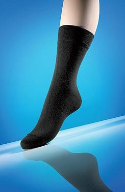 Diabetické ponožky s antibakteriální úpravou černé