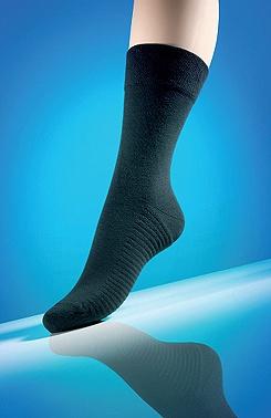 Diabetické ponožky s masáží chodidla černé