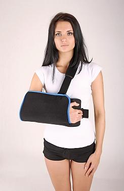 Фиксация плечевого сустава при 20 ° сгибания