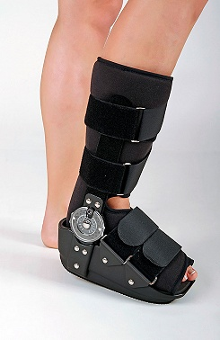 Ankle brace with joints with limitations, ROM Walker