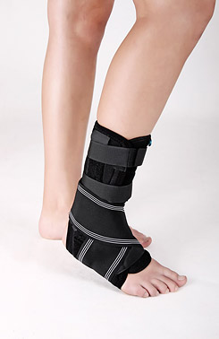 Ankle brace with splint