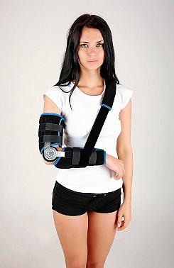 Elbow brace with limitation