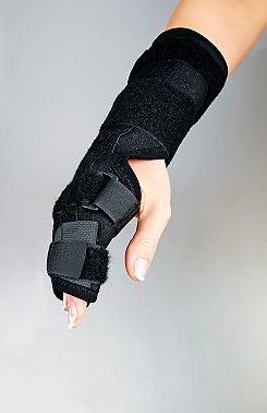 Handgelenkorthese zur Fixierung mit Fingerauflage