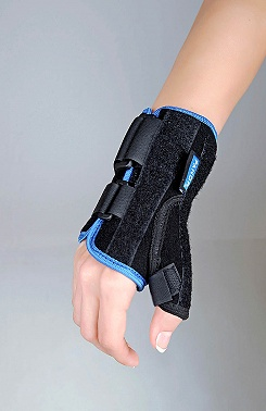 Wrist and thumb brace, short